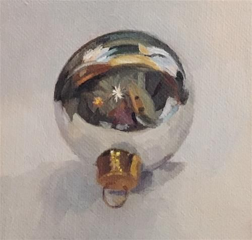 """Daily Paintworks - """"Ornament"""" - Original Fine Art for Sale - © Cheryl Meehan"""