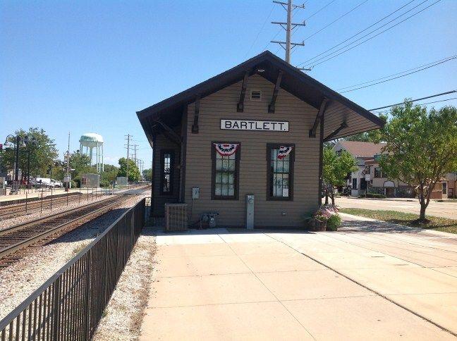 Canvas Santa Fe >> Old train station in downtown Bartlett, IL 60103 www ...