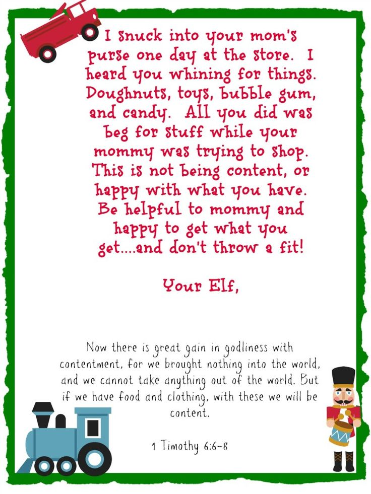 Elf on the Shelf Printables that Instill Good Habits {With Bible Verses}