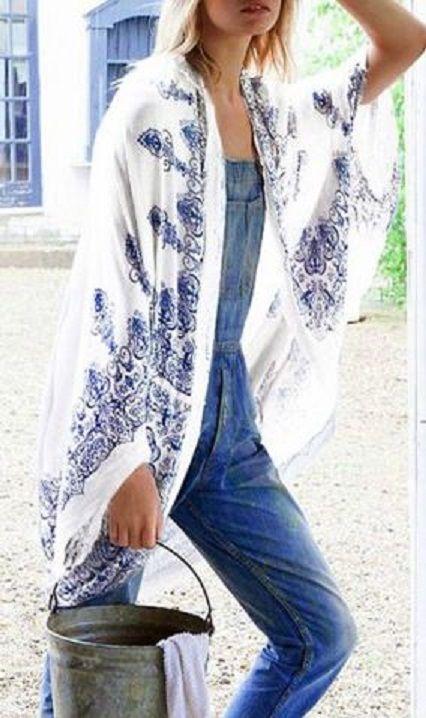 Best 25  Kimono blouse ideas on Pinterest | Kimono top, Kimono and ...