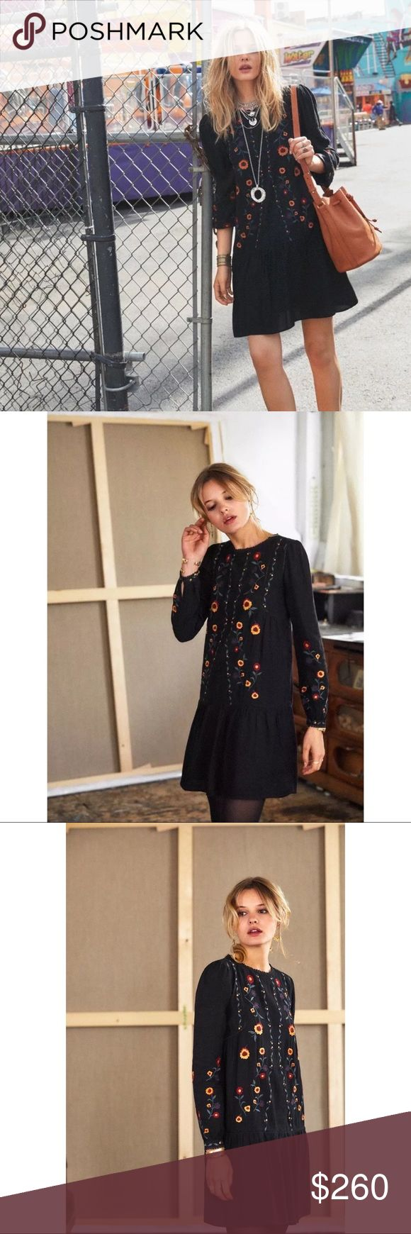 Sèzane Elise Dress - Sold Out Style - NWT •Size 36 (US 4? Can fit 0-4) •Adorable embroidered dress with great details •Super cute on, very flattering •Wear with lined leggings or tights for a perfect winter look  Ask Qs; all sales final Sezane Dresses Mini
