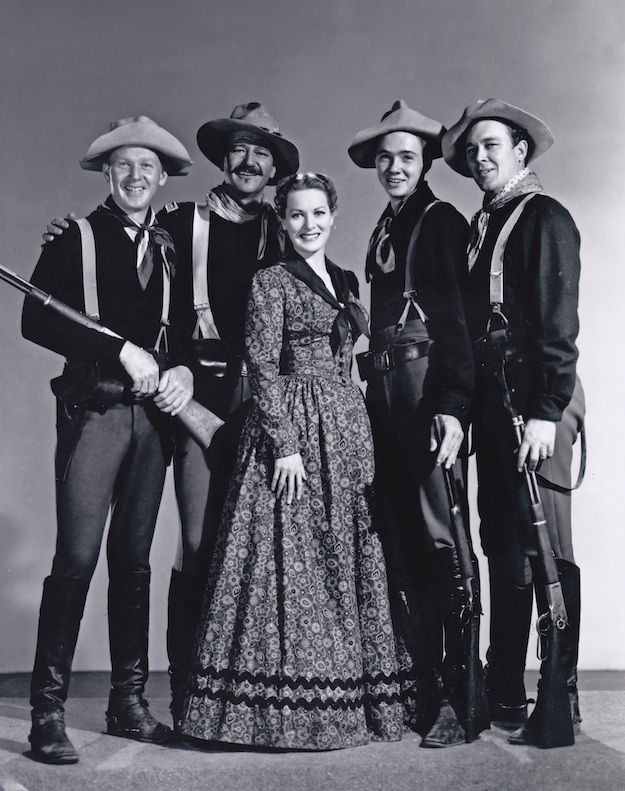 From Rio Grande, with Harry Carey, Jr., John Wayne, Claude Jarman, Jr., Ben Johnson and the loveliest of Irish ladies, Maureen O'Hara.