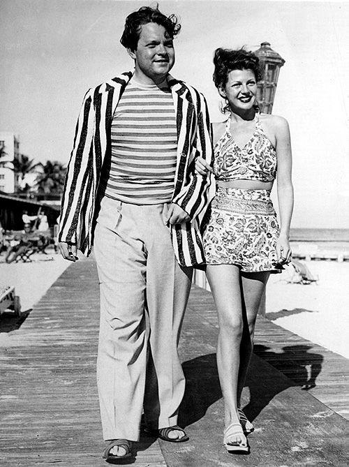 Orson Welles and Rita Hayworth in Miami, Florida, 1944. Like & Repin. Noelito Flow. Noel http://www.instagram.com/noelitoflow
