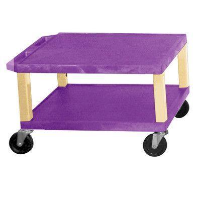 H. Wilson Tuffy Two Shelf Utility Cart Color: Putty, Shelf Color: Purple