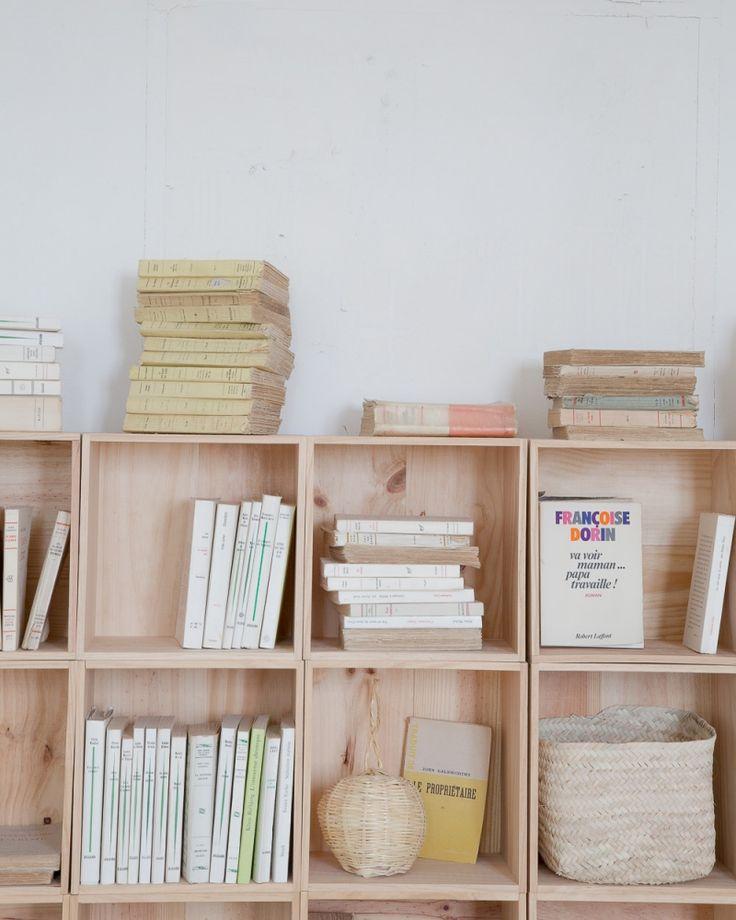 Caisse de rangement en bois 30x30 les petites emplettes 22€ la caisse
