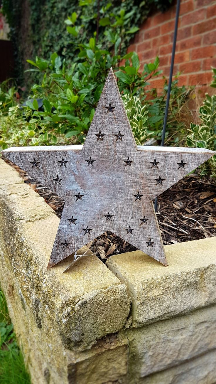 This wooden box star is free standing or can be hung on a wall.  Featuring 20 battery powered LED lights set in tiny cut out stars.  This is a pretty decorative piece with a whitewash effect which will look fabulous in any room and makes a lovely gift. #rustic #rusticdecor #lakebamboo #design #star #love #artisan #hygge  #garden #gardendecor #christmas #christmasdecor #christmas2017 #whitewash #woodenstar #allyearround #notjustforchristmas #amazing
