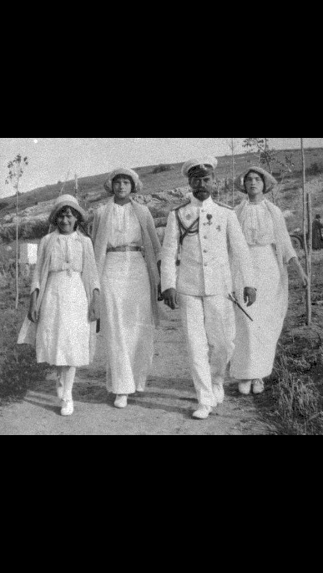 Anastasia, Tatiana, Nicholas, and Olga.