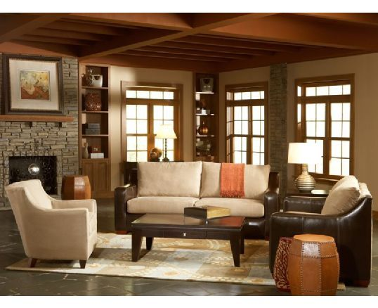Leather fabric living room sets living room for Leather and fabric living room sets