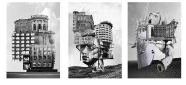 """Saatchi Art Artist Lilya Chavaga; Collage, """"motherland triptych"""" #art"""
