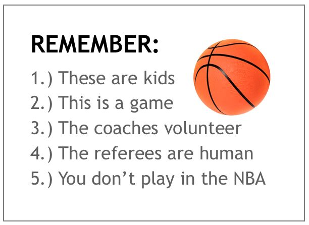 Guidelines for parents at basketball games