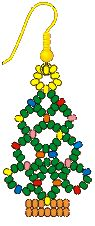 Pendientes en forma de árboles de Navidad de Kathleen Rice,
