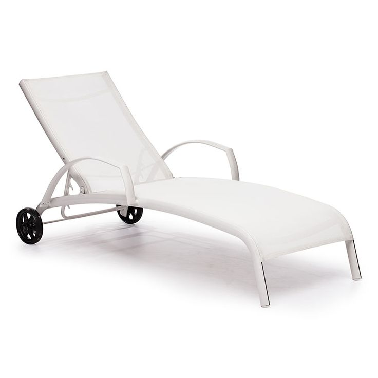 casam chaise lounge white