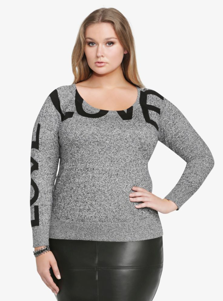 Marled Love Sweater From the Plus Size Fashion Community at www.VintageandCurvy.com