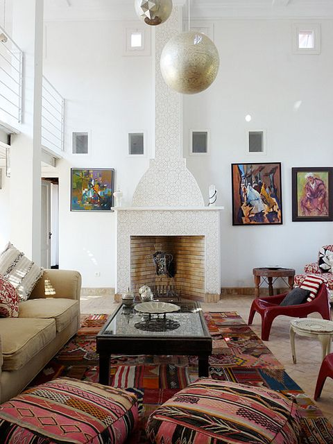 MOROCCO: Highlights from Marrakesh. 3/10/2012 via @Holly BeckerPeacocks Pavilion, Moroccan Design, Moroccan Interiors, Interiors Design, Living Room, Floors Cushions, Floors Pillows, Modern Moroccan, Small Room Decor