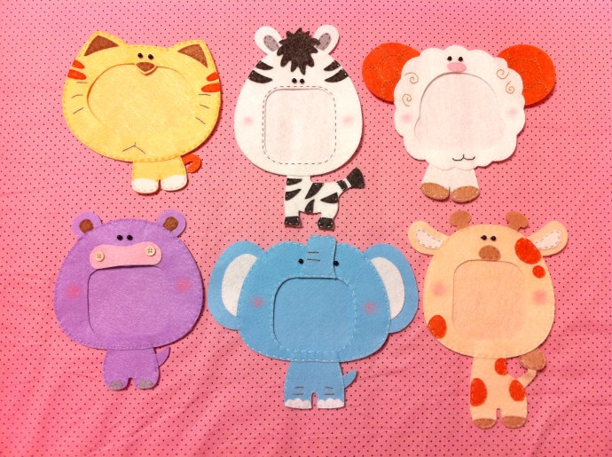 CUTE idea for nursery walls or any child.. could use cardstock paper, felts, or enlarge & cut out of thin panels