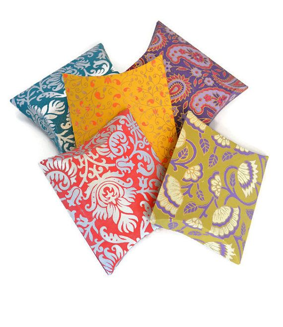 5 Pillow Pouch Box Set Indian Wedding favor Wedding by PenandFavor