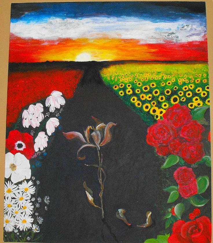 Transformation & Nature, Ji Soo, Acrylic on canvas.