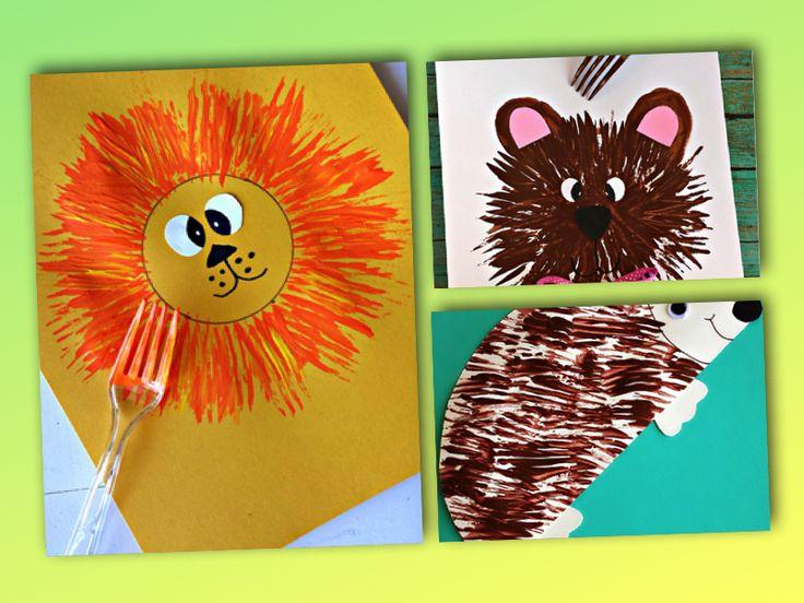 5 djur du kan måla med en gaffel