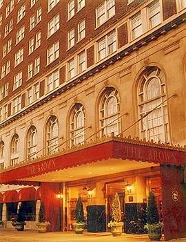 """The Brown Hotel in Louisville is an historic, AAA Four Diamond luxury hotel featuring classic English Renaissance architecture. The Brown has hosted some of the most prominent events in Louisville history. Also visit J. Graham's Cafe, located inside of The Brown, which is home of the legendary """"Hot Brown."""" This is an absolute must if you are visiting Louisville!"""