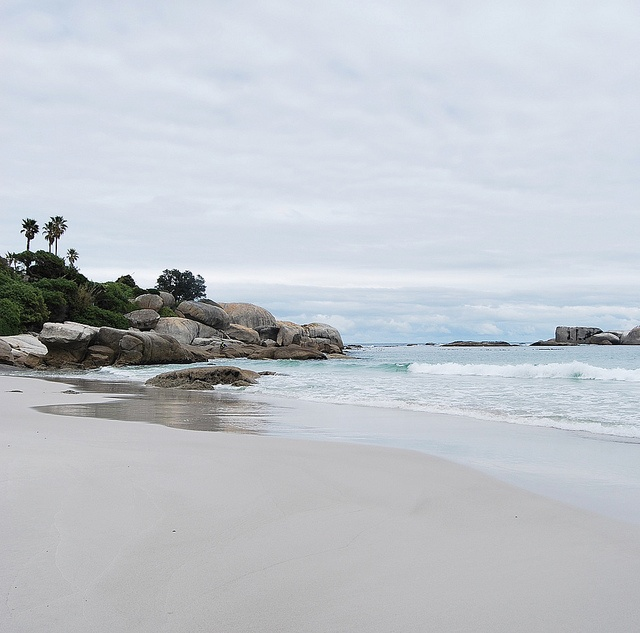 Beach on a winters day - Cape Town, South Africa