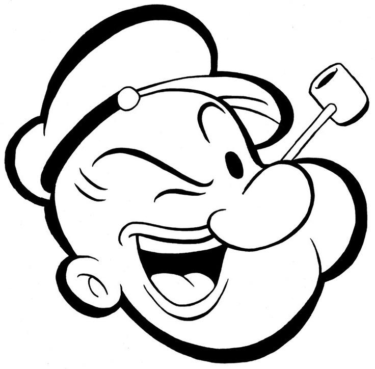 Popeye Stencil Blanco Amp Negro Pinterest