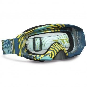 Scott Tyrant Vinyl Green/Yellow Clear Works Motocross Goggles - Motocross Shop Selling MX, Enduro & Motorcycle Parts & Accessories