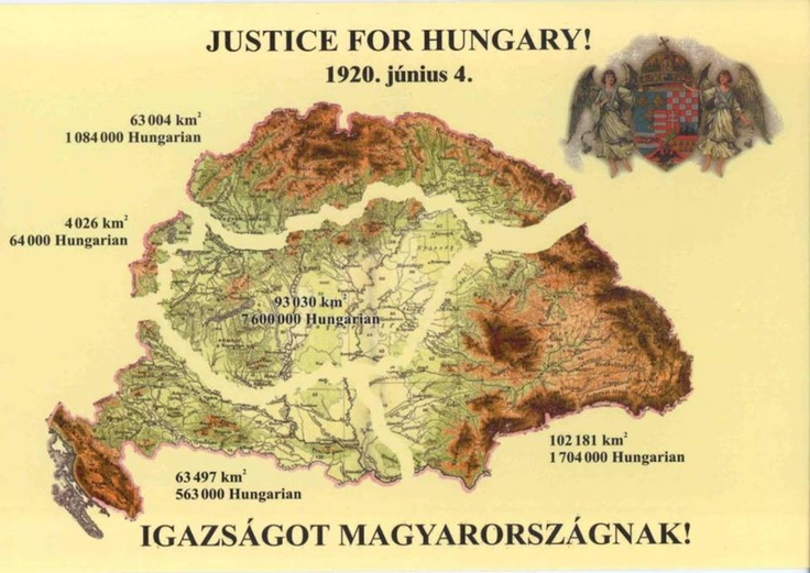 June 4th Hungarians largest loss days, unjust Treaty of Trianon signed anniversary without worth fighting in 1920, the true Hungarians do not celebrate this day, but mourn, mourn the heroes who gave their blood for their country, and mourn that 2/3rds of our country has been stolen from us :( ( no nation has been able to obtain the hungarian land by worth fighting over 1000 years! )