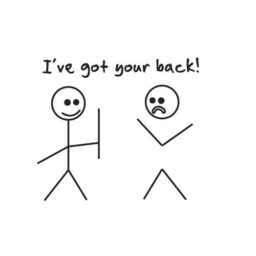 I got your back.: Figure Drawing, True Friends, Simple Humor, Funny Cartoons, Roadkilltshirts Com, Hahaha Clever, Back Literally, Make Me Smile, Stick People Drawings Funny