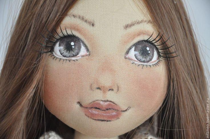 Купить Аурелия - бежевый, коллекционная кукла, авторская кукла, интерьерная кукла, стиль бохо, хлопок