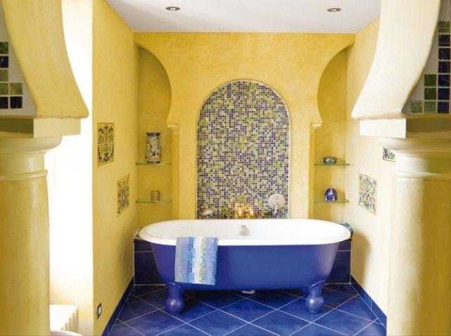 1000 id es sur le th me salles de bains bleu jaune sur - Salle de bain jaune et bleu ...