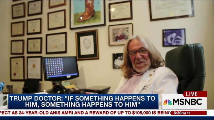 Responding to a question about his patient's age, Harold Bornstein, Donald Trump's physician, said 'If something happens to him, then it happens to him.' MSNBC's Brian Williams has more.