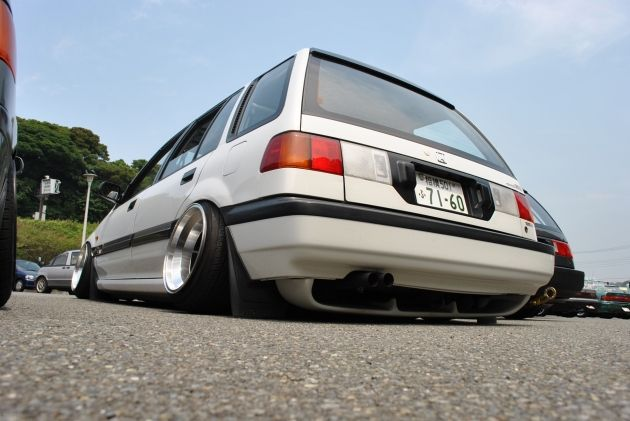 Scraping The Pavement Is A Win Civic Wagon Slammed As F
