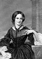 Charlotte Brontë-  An English novelist and poet, the eldest of the three Brontë sisters who survived into adulthood, whose novels are English literature standards. She wrote Jane Eyre