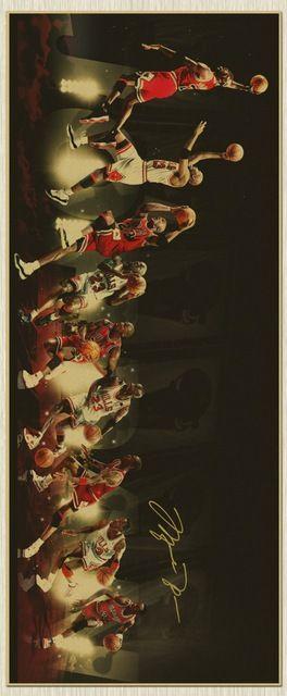 Top frío - 110 CM largo Vintage retro Michael Jordan poster ART - barra casera cafetería pintura arte TOP Decor - oferta especial