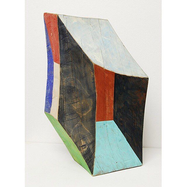Clark Derbes Untitled, carved and polychromed wood, 20 X 12 x 8 Clark Derbes'…