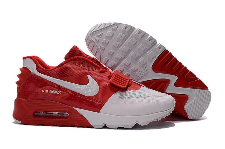 Best Drop Shipping Nike Air Max 90 Couple running shoes Gray white red