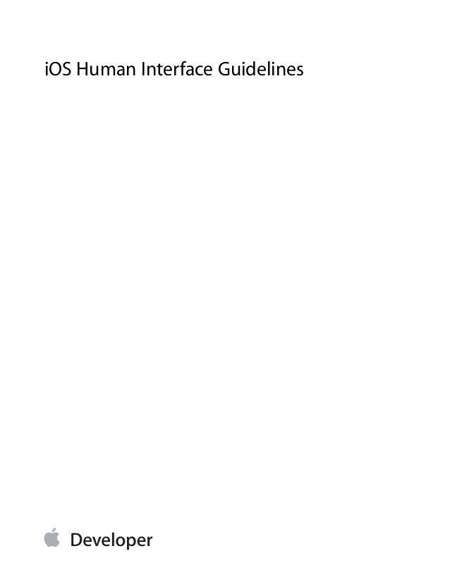 iOS 7 design guideline