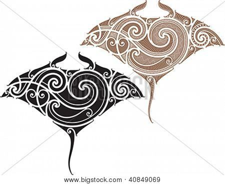manta ray tattoo - Google Search