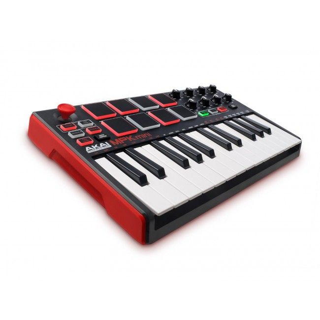 Mini Teclado Musical Profissional com entrada USB, portátil, de mesa - MPK Mini MKII - Akai Professional - Teclas - Instrumentos Musicais