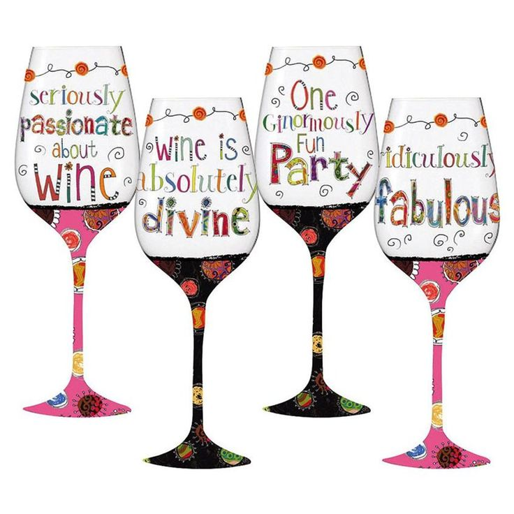 decor from glass decorative touch glasses wine and sisters a martini of
