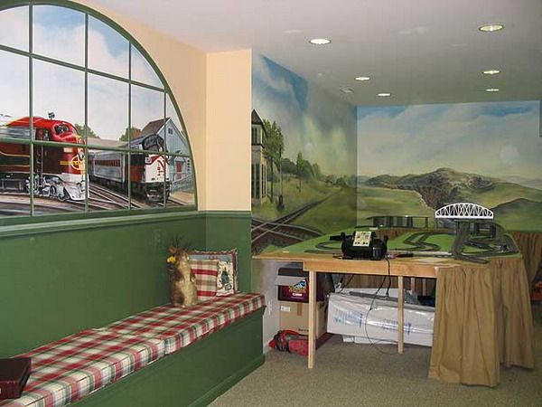 New Concept Of Train Wall Murals Decor Part 6