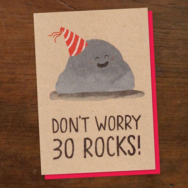 30 Rocks Birthday Card