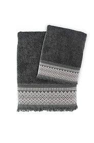 EMBROIDERED FRINGE DETAIL TOWEL