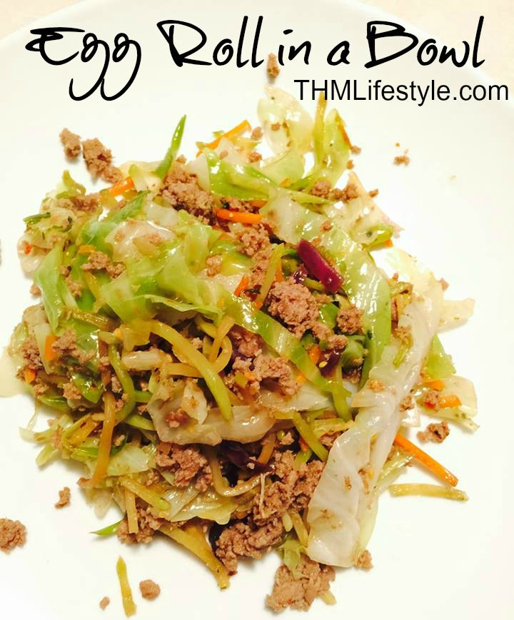 recipe from Frugal Healthy Life - Egg Roll in a Bowl