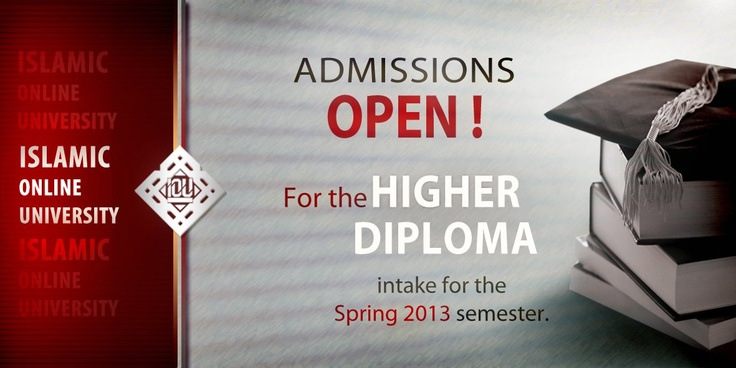 Islamic Online University now offers a higher diploma for students who already have a BA in other disciplines but are interested in pursuing an MA in Islamic Studies. It takes 3 semesters to complete and is the BRIDGE from your BA to the MAIS.   Admissions has started for the Higher Diploma (Bridge to MAIS) intake for the Spring 2013 semester. To register, please go to  http://bais.islamiconlineuniversity.com/maisb/