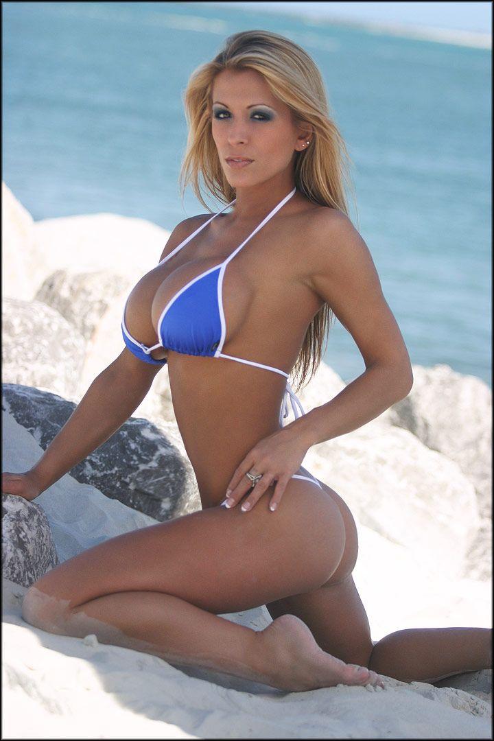 Skimpy g string bikini models