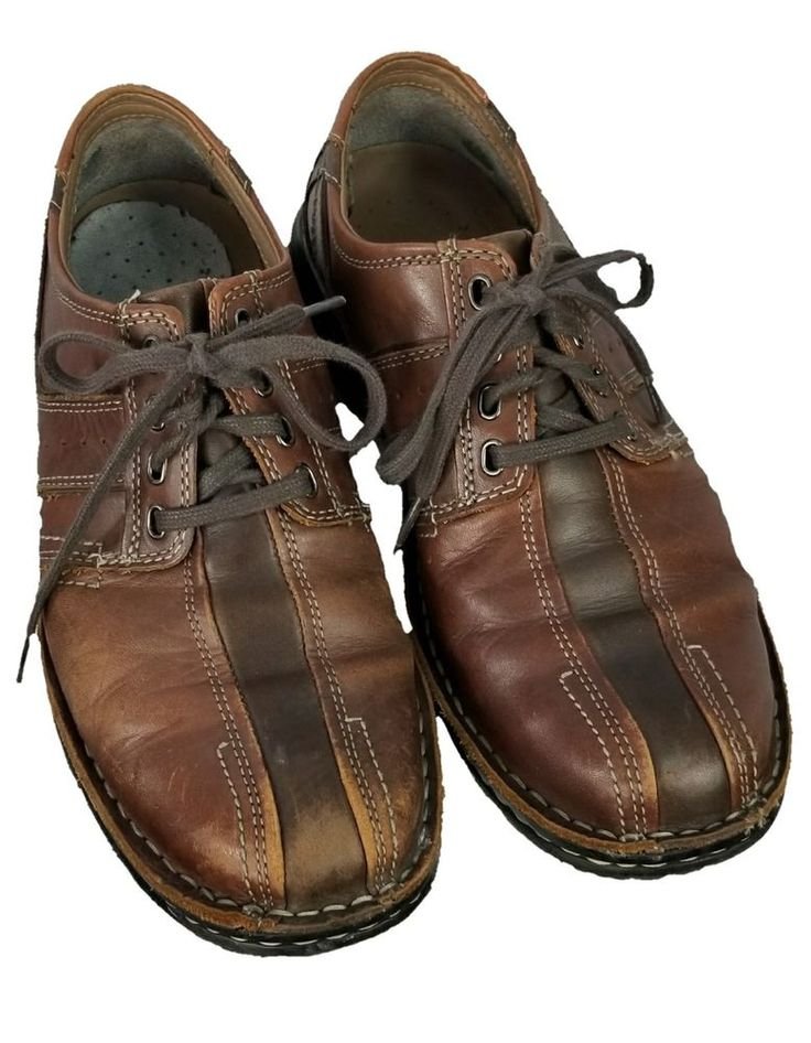 Clark's Shoes Size 10M Men's Brown Leather Shoes #Clarks #PlatformShoes #Formal