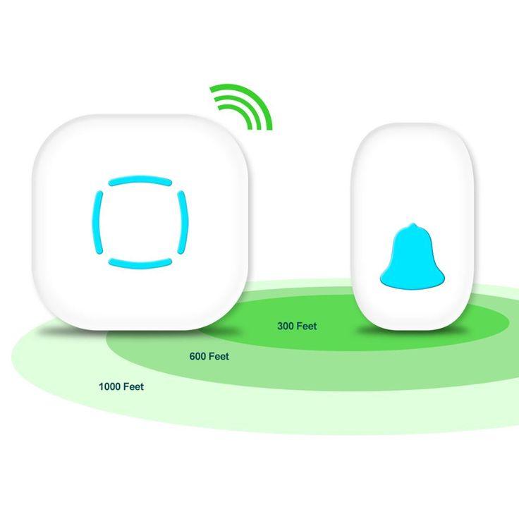 JOOAN L2 Wireless Doorbell Premium Portable Plug-in Type Waterproof  Kit With 36 Chimes Cordless Smart Door Bells Doorbells