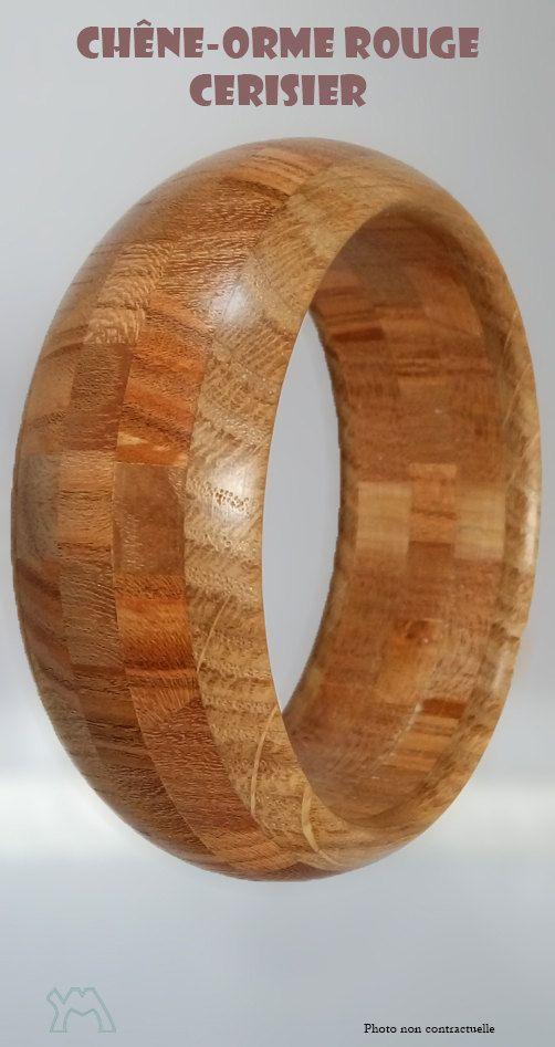 Bracelet bois Chêne - Orme rouge - Cerisier de la boutique YvesMorgand sur Etsy