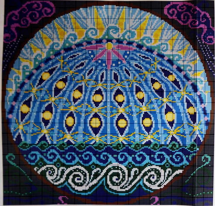 "Ehrman Needlepoint Kit ""Day Two: The Firmament"" Creation Series by Alex Beattie #Ehrman"